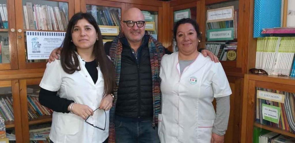 El escritor Franco Vaccarini compartió una jornada con alumnos de la EP N.° 2