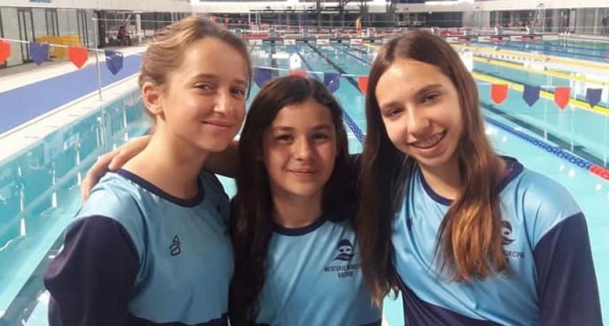 Natación; Abril Troncoso, Alma Hernández y Victoriana Morena compiten por un lugar en los Juegos Evita