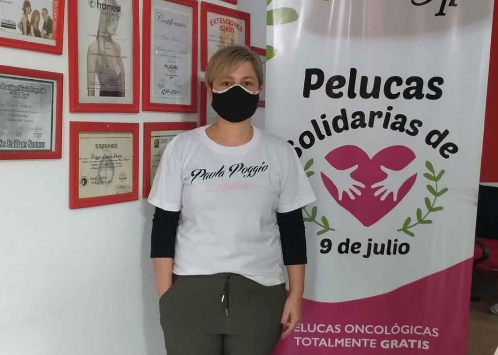 Paola Poggio Estilista colabora con la campaña de Pelucas Solidarias 9 de Julio