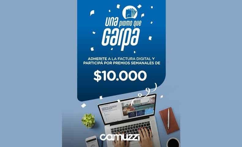 'Una promo que garpa' la promoción de Camuzzi que entrega más de un millón de pesos en efectivo