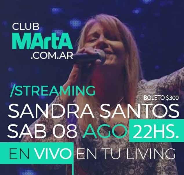 Sandra Santos llega al living de tu casa gracias a Club Marta