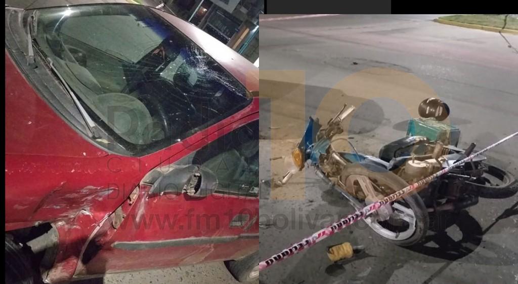 Un motociclista hospitalizado tras fuerte impacto en Avenida Alsina y Güemes