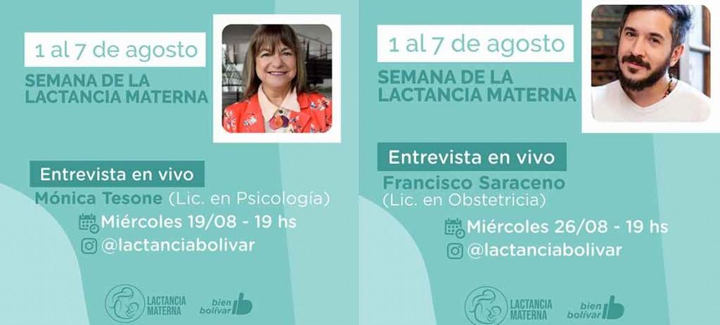 En el marco del mes de la lactancia materna el Lactario Municipal brindará dos entrevistas a especialistas en la temática