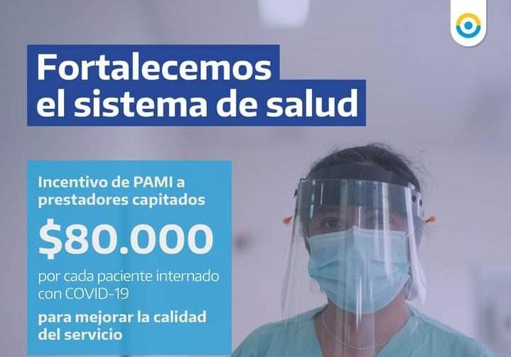 Coronavirus: PAMI pagará 80 mil pesos por cada afiliado internado por covid-19