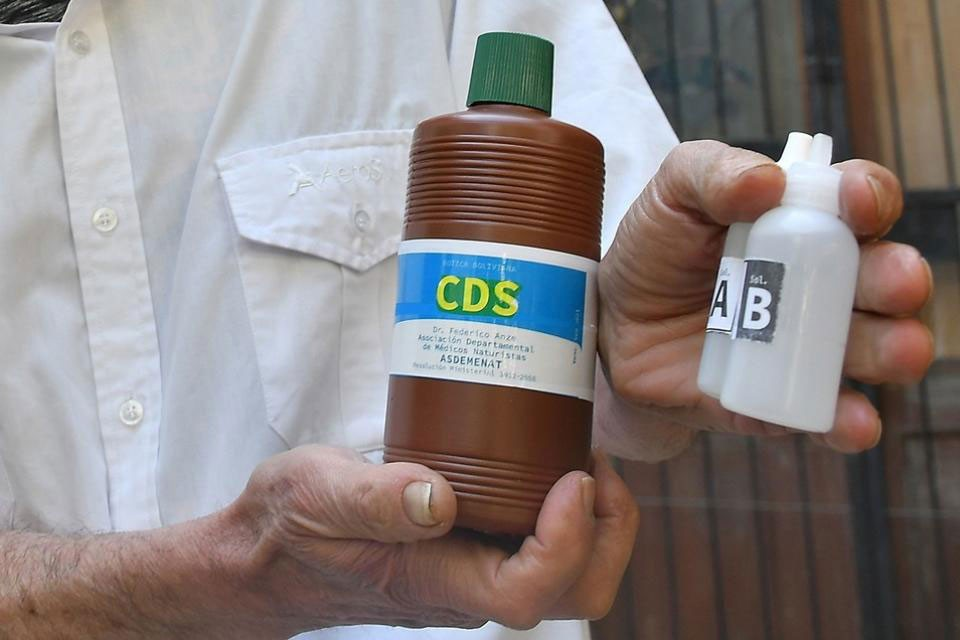 El Ministerio de Salud no autoriza la utilización de dióxido de cloro