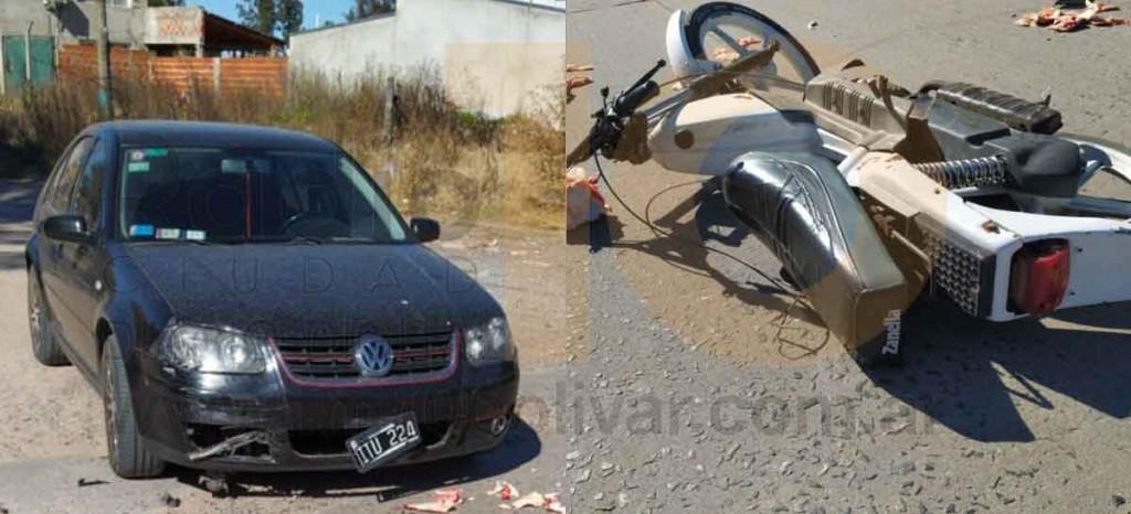 Motociclista hospitalizado tras un impacto en Avenida Calfucura