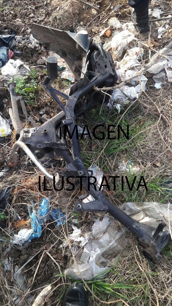 Hallaron el cuadro de una moto que pertenecía en un joven de Bolívar, robaron cemento y allanaron un domicilio