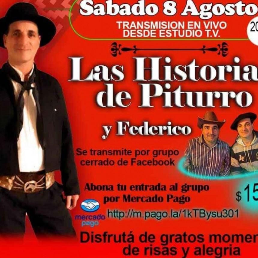 Piturro y Federico se presentarán este sábado en vivo por Facebook