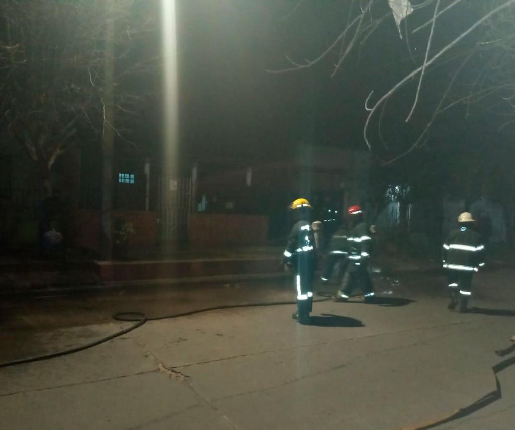 Se incendió una garrafa en una vivienda