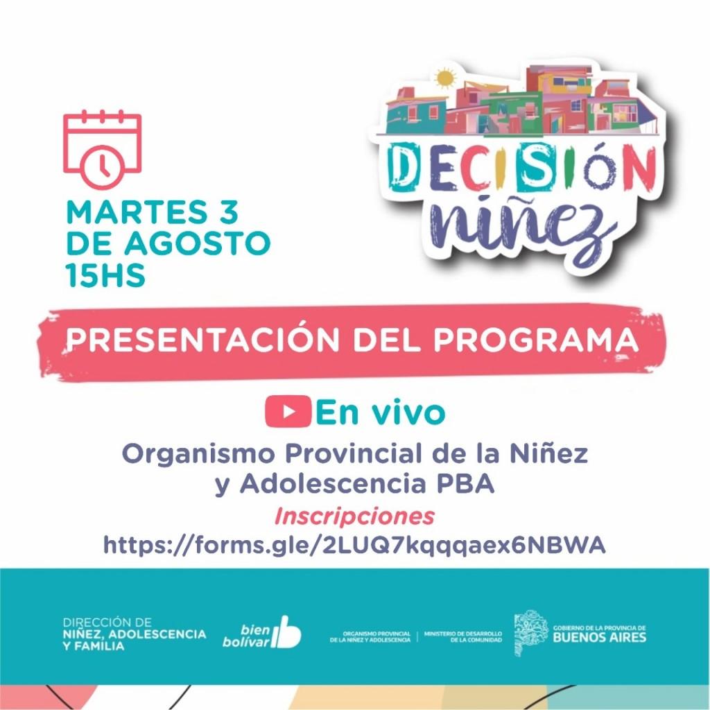 Dirección de Niñez, Adolescencia y Familia: Presentan hoy el programa