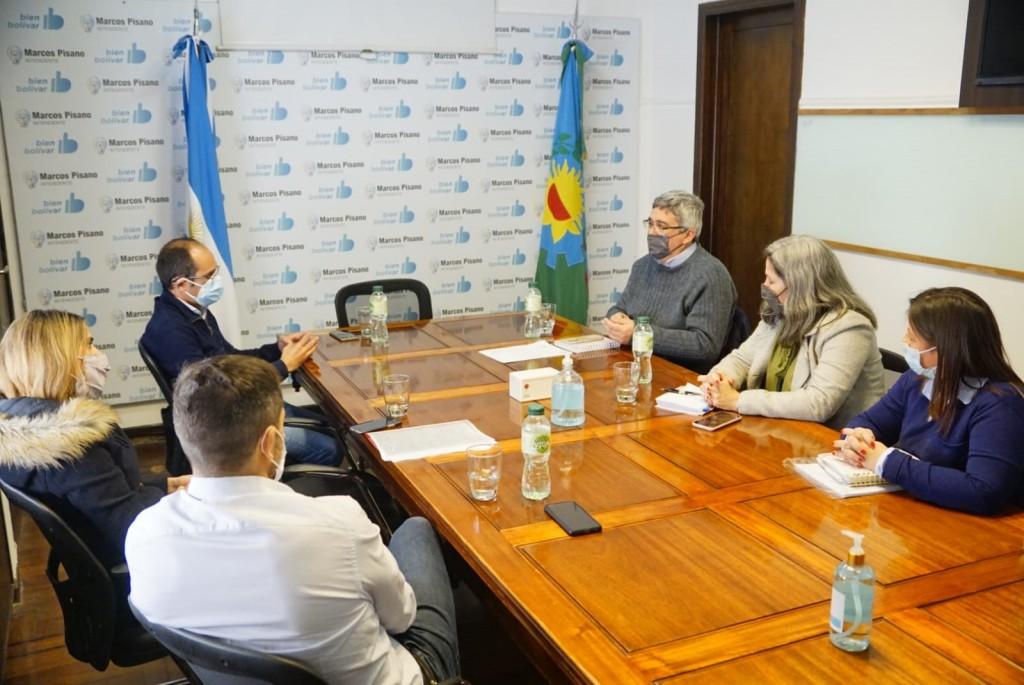 El Ministro Javier Rodríguez visitó Bolívar y desarrolló actividades con el intendente Pisano