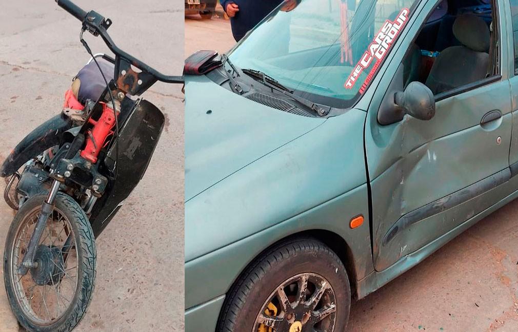 Barrio Pompeya: Se produjo una colisión entre dos conductores este sábado