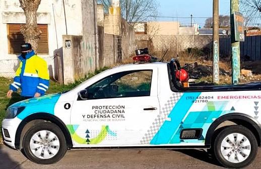 Asistieron a un ciudadano con problemas respiratorios hasta el arribo de la unidad de urgencias del hospital Capredoni