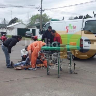 Accidente del mediodía: Dejó como saldo una persona herida