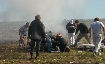 Avioneta cae en el aeródromo de General Villegas y deja dos heridos graves
