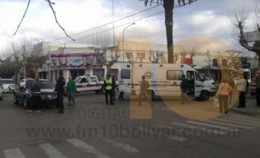 Se recupera la mujer accidentada en Sargento Cabral y avenida Lavalle