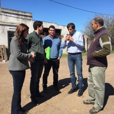 El Intendente visitó distintos establecimientos rurales e industriales del partido