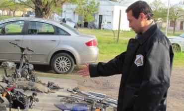 Al menos cinco imputados por el robo de motos y venta de repuestos