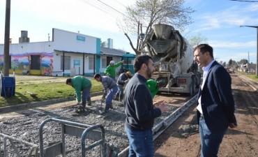 PAVIMENTO CONTINUO: El pavimento llegó al CAPS Francisco Ravassi
