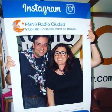 ¡Un lujito de radio! El locutor de Telefe nos visitó en el Stand 145