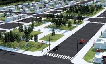 Bucca presentó el prototipo de las 104 viviendas