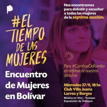 Hoy se realizará el encuentro de mujeres en Bolívar