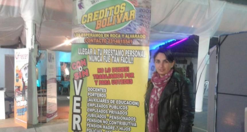 Créditos Bolívar atiende en el galpón que la Cámara Comercial tiene en la Expo 2018