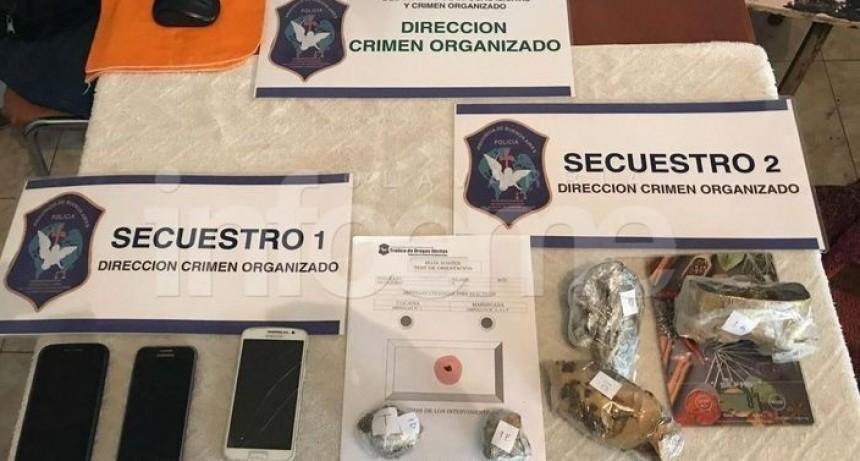 Olavarría: Dos aprehendidos y marihuana secuestrada en múltiples allanamientos