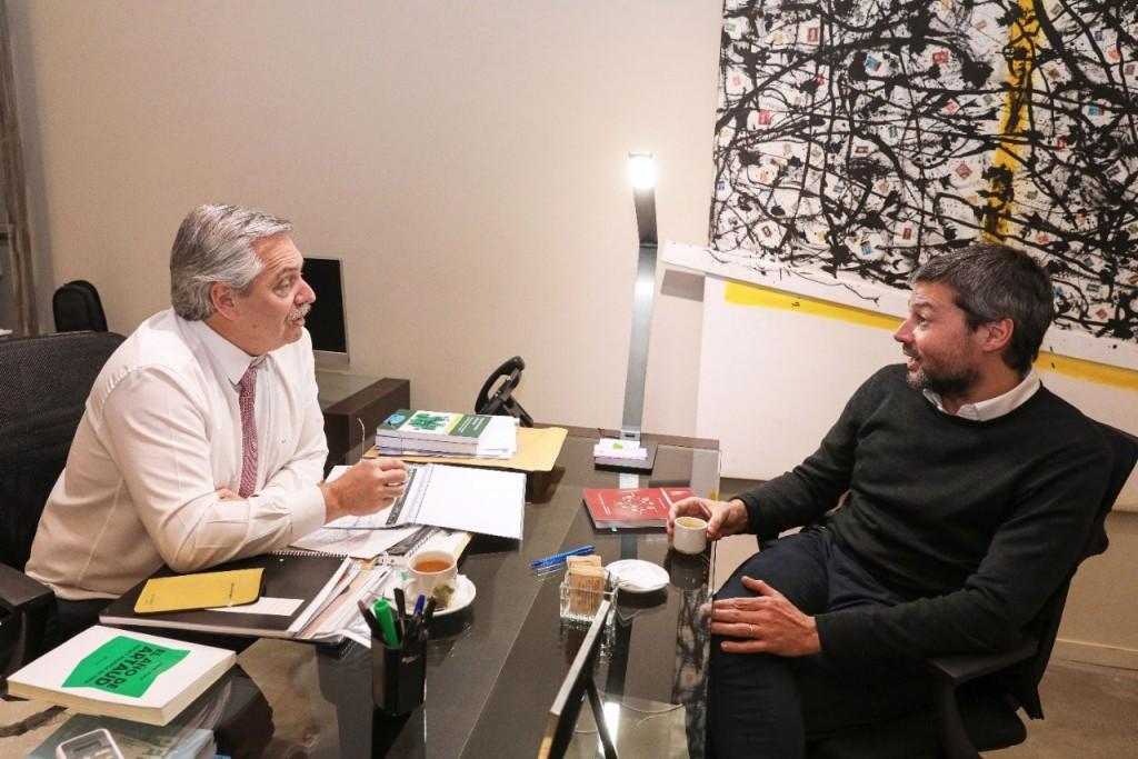 Alberto Fernández se reunión con Matías Lammens