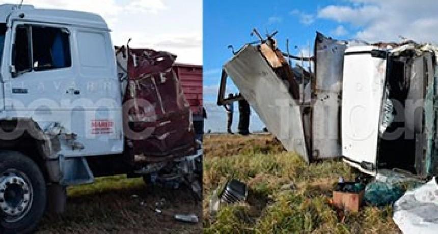 Grave accidente entre camiones en Ruta 226: tres personas resultaron heridas