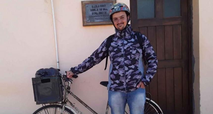 Luciano Sánchez y el gran desafío de unir Escobar y Pirovano en bicicleta