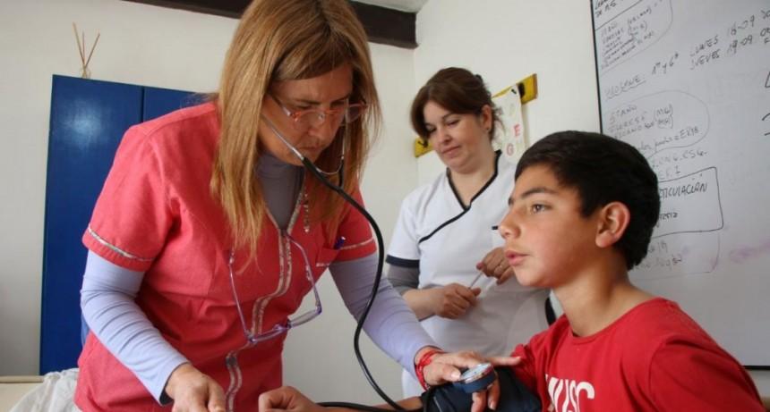 Como iniciativa municipal se realizó un control de libretas sanitarias en la escuela N°40