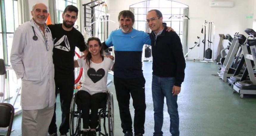 Brenda Sardón visitó el CRIB junto al Intendente Marcos Pisano