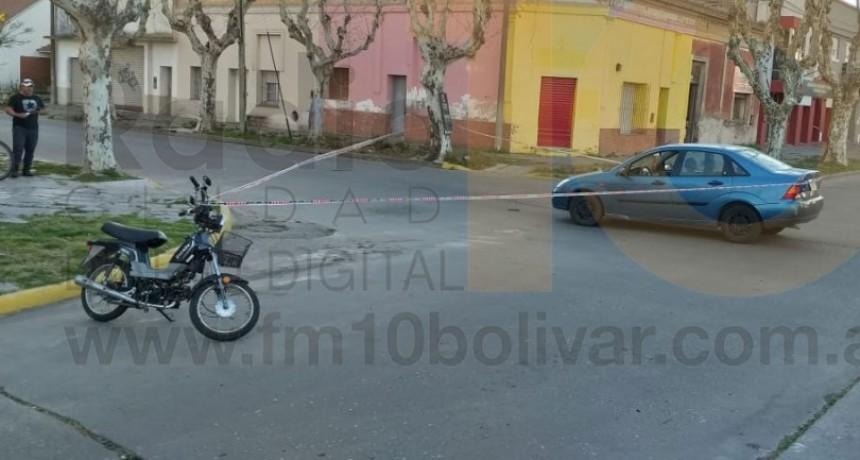Dos motociclistas fueron derivadas al nosocomio local tras un impacto en calle Zapiola y Av. Alsina