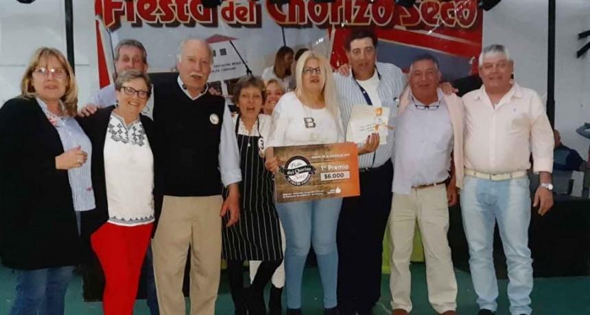 Alejandra Serra fue la gran ganadora de la Fiesta del Chorizo Seco en Pirovano