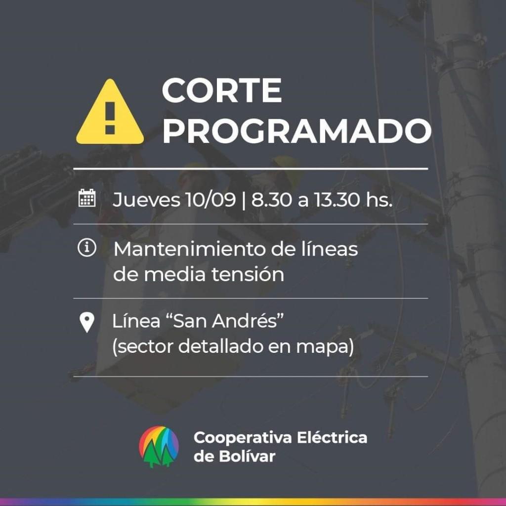 La Línea Paraje San Andrés quedará afectada por un corte programado