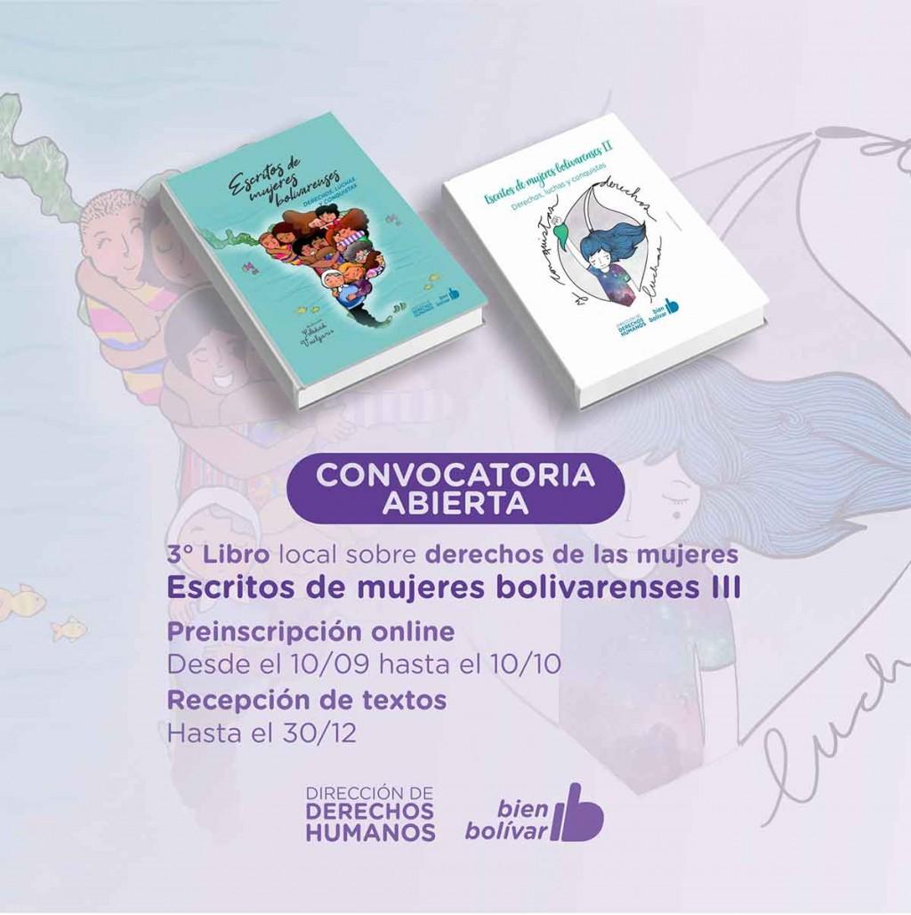 Se abrió la inscripción para escritos de Mujeres Bolivarenses III