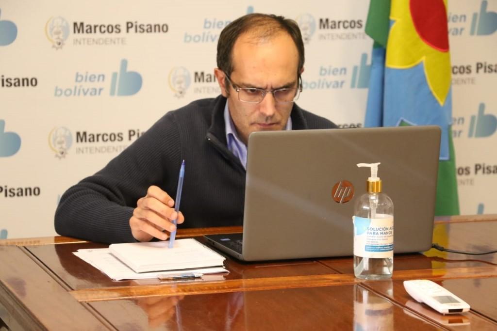 El Intendente Marcos Pisano participó de un encuentro virtual con el Gobernador Kicillof