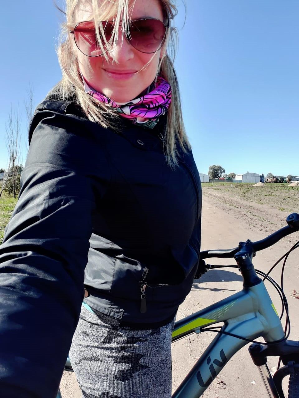 """Verónica Novillo: """"Me compré la bici como recreación y después me entusiasmé hasta llegar a competir"""""""