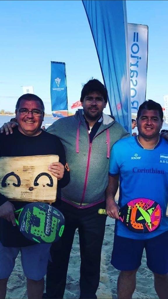 Claudio Garayalde: 'Javier me pasó la posta y me hice cargo del Beach Tennis, en las canchas del Club Buenos Aires'