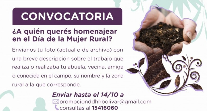 Convocan a enviar impágenes de Mujeres Rurales