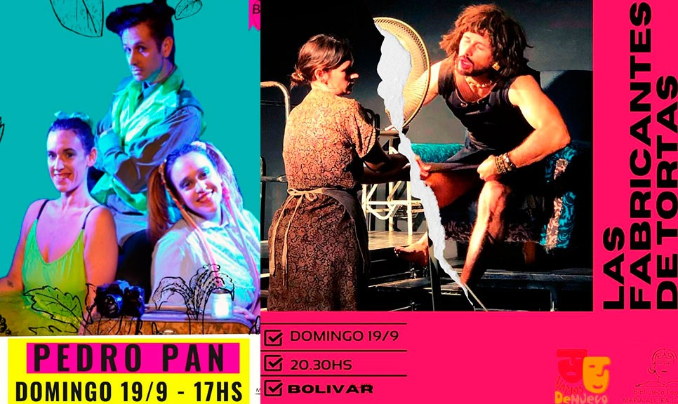 Este domingo 19 de Septiembre llega el grupo LAM de Saladillo, con dos propuestas teatrales