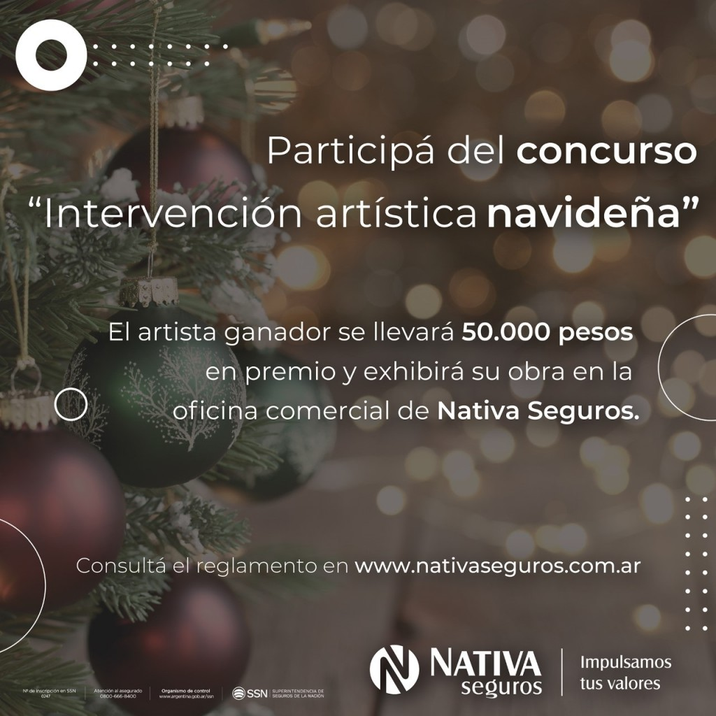 """Nativa Seguros lanza el concurso """"Intervención artística navideña"""" y convoca a artistas locales a presentar propuestas"""