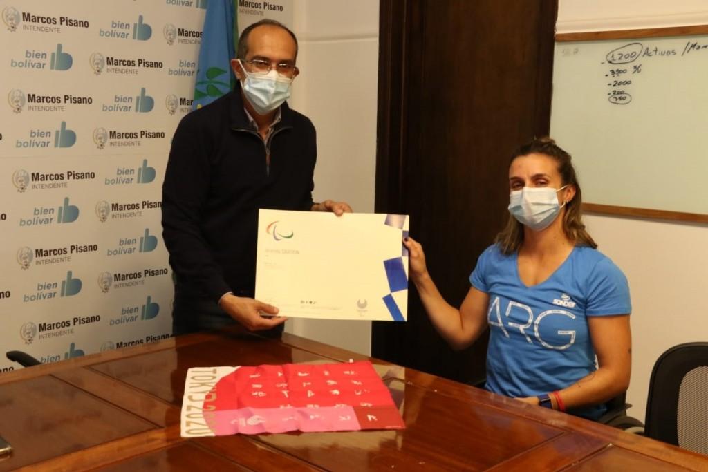El Intendente Marcos Pisano recibió a Brenda Sardón