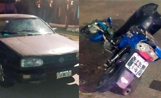 Un motociclista hospitalizado tras un impacto con un vehículo en la esquina de Larrea y Sáenz Peña