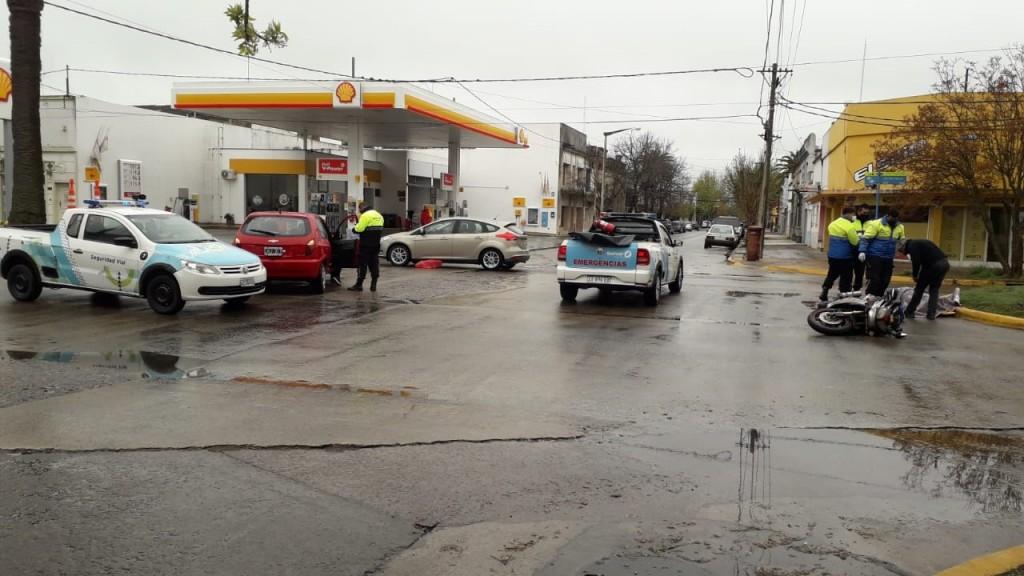 Este lunes al mediodía, el Equipo Emergente de la ciudad debió asistir a dos accidentados
