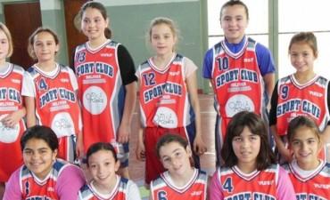 En el básquet femenino fueron todos triunfos para Sport Club