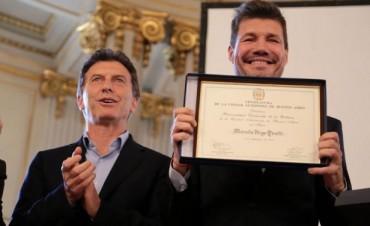 Marcelo Tinelli fue declarado personalidad destacada de la cultura