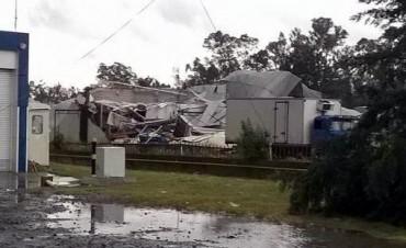 Problemas en el sur bonaerense por las lluvias y fuerte tornado en Bragado