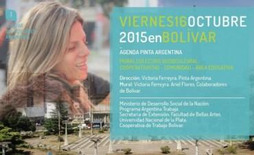 Pinta Argentina realizará un mural colectivo en las paredes de la Escuela N°1